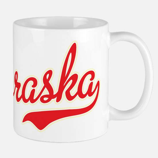 Nebraska Script Font Mugs