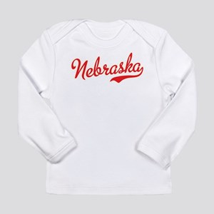 Nebraska Script Font Long Sleeve T-Shirt