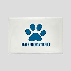 Black Russian Terrier Dog Designs Rectangle Magnet