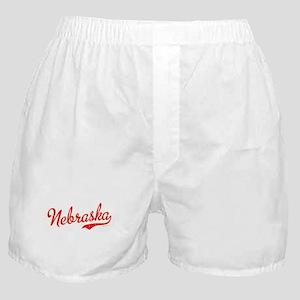 Nebraska Script Font Vintage Boxer Shorts