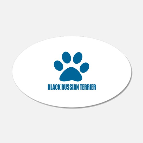 Black Russian Terrier Dog De Wall Decal
