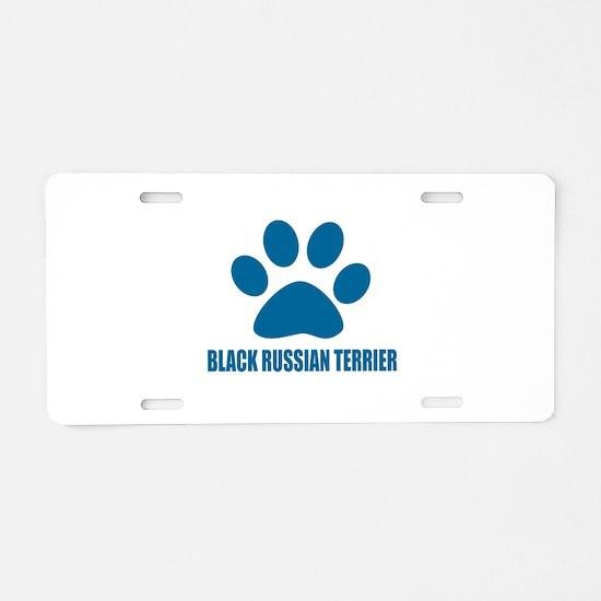 Black Russian Terrier Dog D Aluminum License Plate