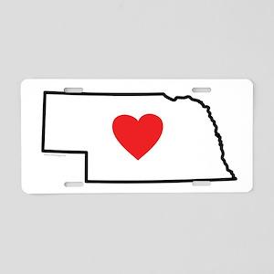 I Love Nebraska Aluminum License Plate