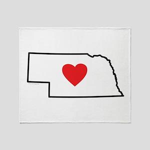 I Love Nebraska Throw Blanket