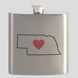 I Love Nebraska Flask