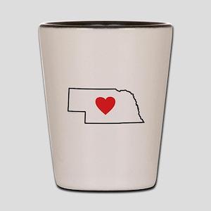 I Love Nebraska Shot Glass