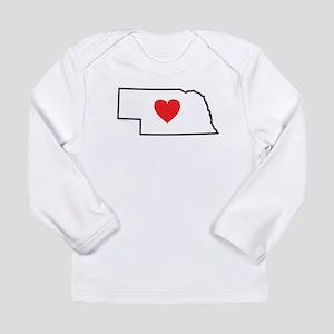 I Love Nebraska Long Sleeve Infant T-Shirt