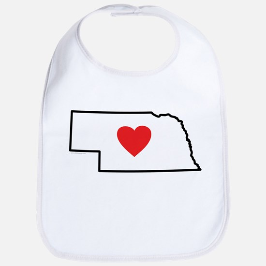 I Love Nebraska Bib