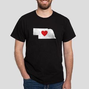 I Love Nebraska Dark T-Shirt