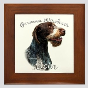 Wirehaired Mom2 Framed Tile