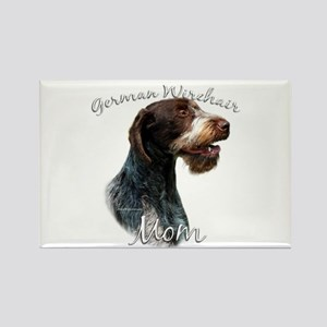 Wirehaired Mom2 Rectangle Magnet