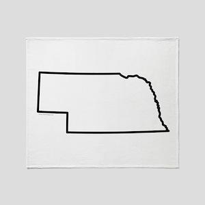 Nebraska State Outline Throw Blanket