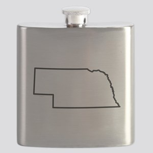 Nebraska State Outline Flask