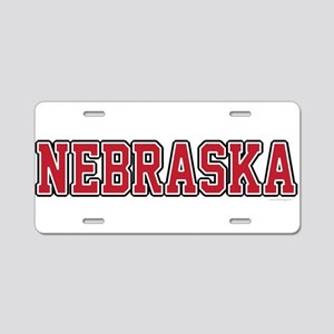 Nebraska Jersey Red Aluminum License Plate
