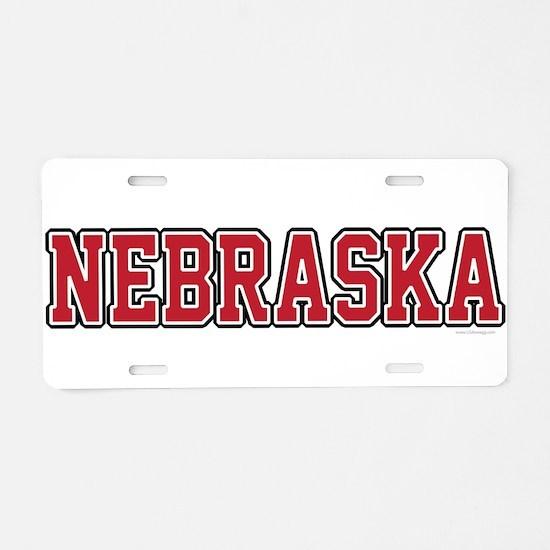 Nebraska Jersey Red Aluminum License Plate