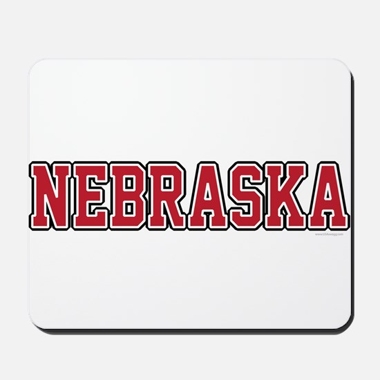 Nebraska Jersey Red Mousepad