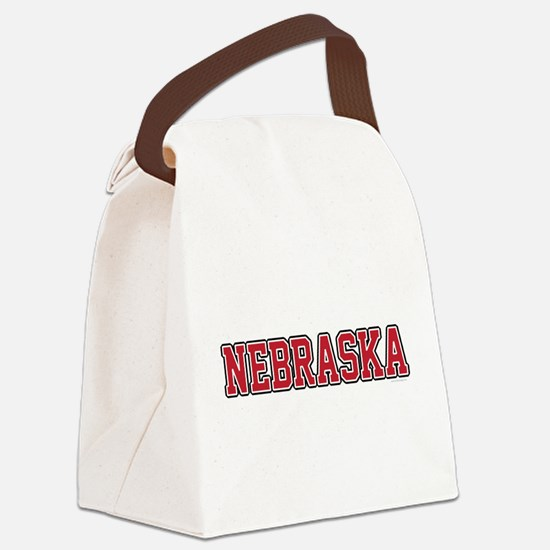 Nebraska Jersey Red Canvas Lunch Bag