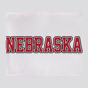Nebraska Jersey Red Throw Blanket