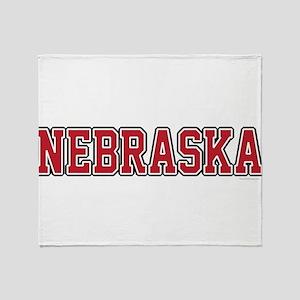 Nebraska Jersey Red Throw Blanket
