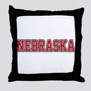 Nebraska Jersey Red Throw Pillow