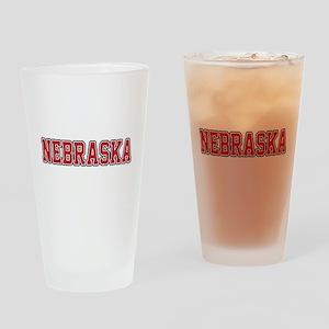 Nebraska Jersey Red Drinking Glass