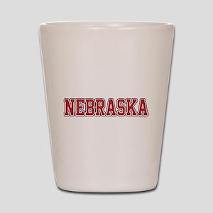 Nebraska Jersey Red Shot Glass