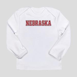Nebraska Jersey Red Long Sleeve Infant T-Shirt
