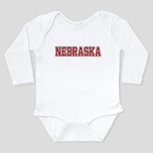 Nebraska Jersey Red Long Sleeve Infant Bodysuit