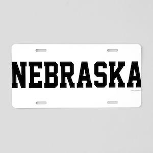 Nebraska Jersey Black Aluminum License Plate