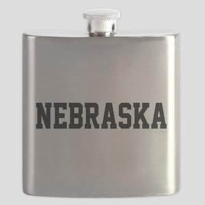 Nebraska Jersey Black Flask
