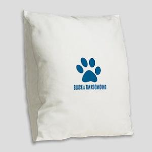 Black and Tan Coonhound Hound Burlap Throw Pillow