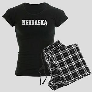 Nebraska Jersey White Women's Dark Pajamas