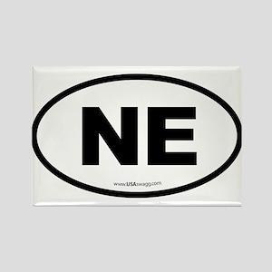 Nebraska NE Euro Oval Rectangle Magnet