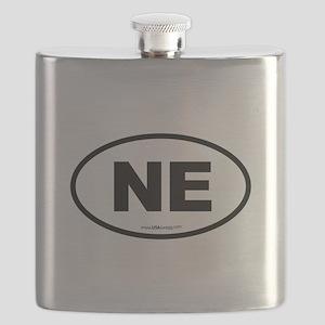 Nebraska NE Euro Oval Flask