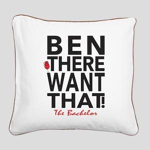 Ben The Bachelor Square Canvas Pillow