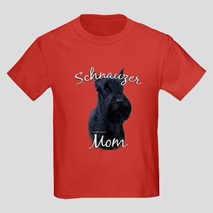 Schnauzer Mom2 Kids Dark T-Shirt