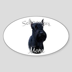 Schnauzer Mom2 Oval Sticker