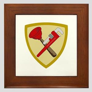 Plumbers Shield Framed Tile