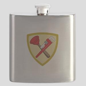 Plumbers Shield Flask