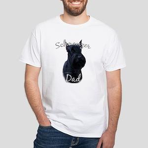 Schnauzer Dad2 White T-Shirt