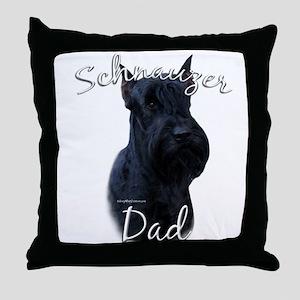 Schnauzer Dad2 Throw Pillow