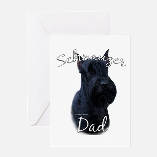 Schnauzer Dad2 Greeting Card