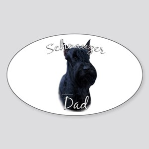 Schnauzer Dad2 Oval Sticker