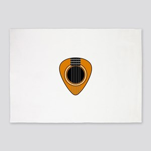 Acoustic Guitar Pick 5'x7'Area Rug