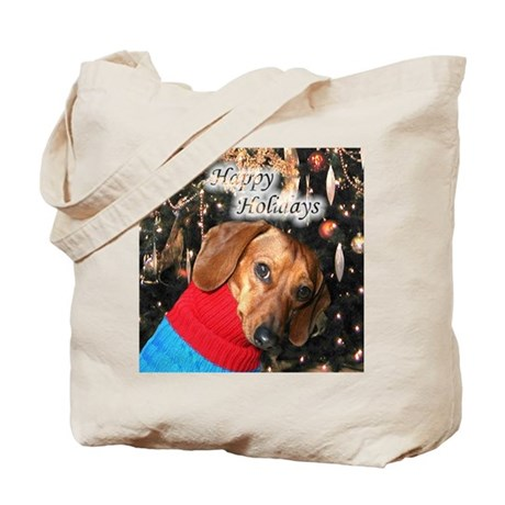 Happy Holidays Doggie Tote Bag