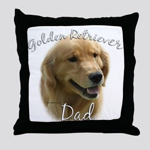 Golden Dad2 Throw Pillow