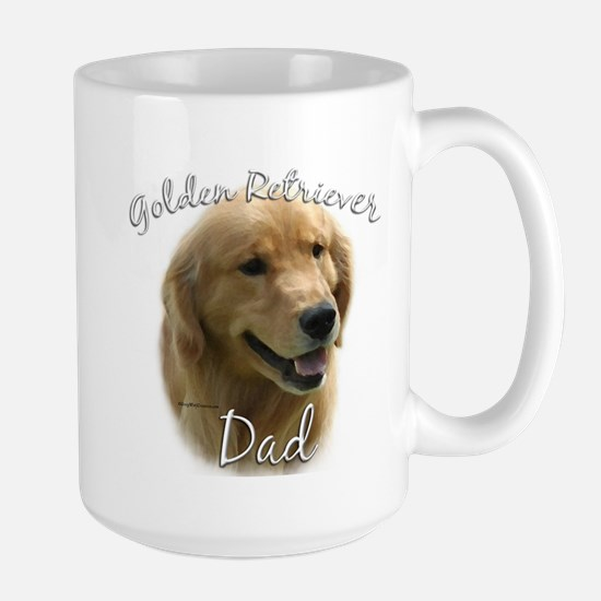 Golden Dad2 Large Mug