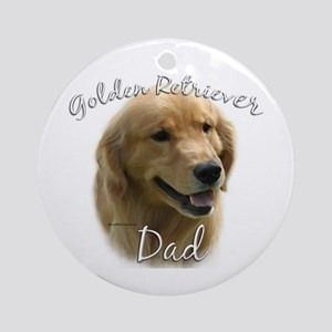 Golden Dad2 Ornament (Round)