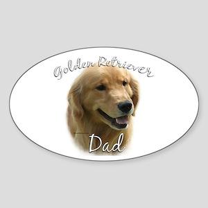 Golden Dad2 Oval Sticker