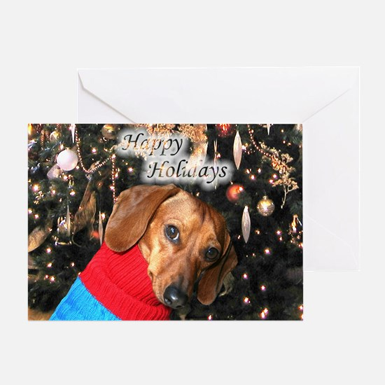 Happy Holidays Doggie Greeting Card